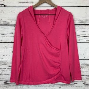 Soft Surroundings Small Hooded Surplice Tee